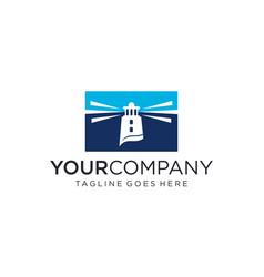 Creative mercusuar for logo design vector