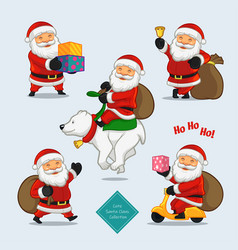 cute santa collections vector image