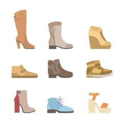 Different Shoes Assortment vector image