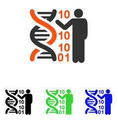 Dna code report flat icon vector