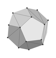 dodecahedron geometry shape vector image
