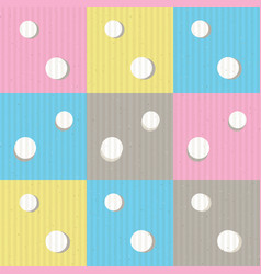 Dots and squares seamless pattern vector