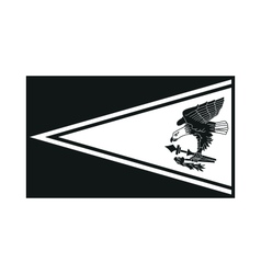 Flag of american samoa monochrome on white vector