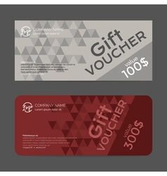 Gift voucher template eps10 format vector image
