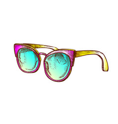 glasses fashion correction accessory color vector image