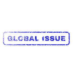Global issue rubber stamp vector