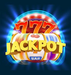 Golden slot machine wins jackpot big win vector