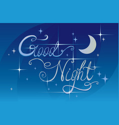 good night lrttering vector image