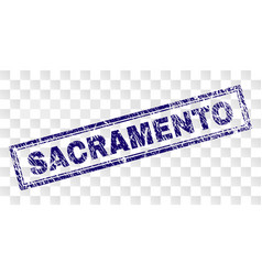 Grunge sacramento rectangle stamp vector