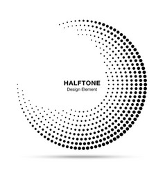 halftone circle abstract frame circular dots logo vector image