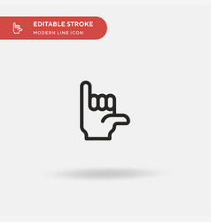 Hang loose hand simple icon vector