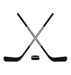 ice hockey sticks icon simple style vector image