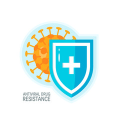 immune system concept simple colored icon vector image
