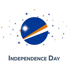 Independence day of marshall islands patriotic vector
