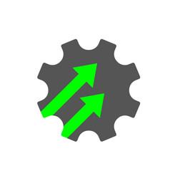 Industry 40 gear icon cogwheel sign 40 vector