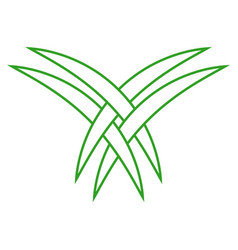 Intertwined palm leaves are the tourist logo vector