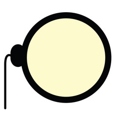 isolated monocle icon vector image