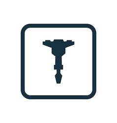jackhammer icon Rounded squares button vector image