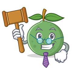 Judge guava mascot cartoon style vector