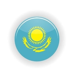 Kazakhstan icon circle vector image