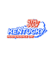 kentucky state 4th july independence day with vector image