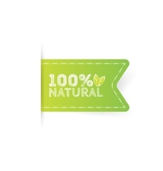 Logo Natural with leaves natural product organic vector