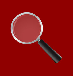 Magnifying glass on a white background realistic vector
