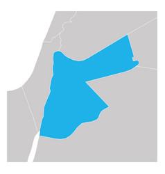 Map jordan green highlighted with neighbor vector