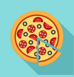 margarita pizza icon flat style vector image