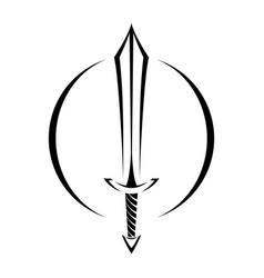 metal sword cartoon icon vector image