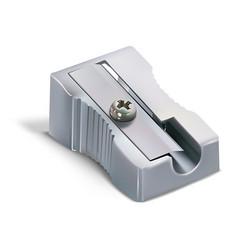 Metallic pencil sharpener vector