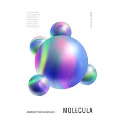 Minimalistic cover design abstract molecule vector