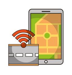 Mobile map navigation tracking road autonomous car vector