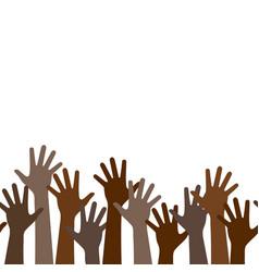 multicultural crowd protest symbol black vector image