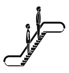 people escalator icon simple style vector image