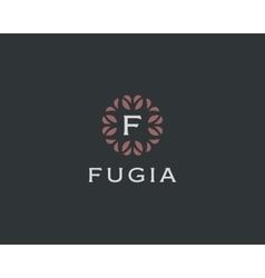 Premium monogram letter f initials logo universal vector