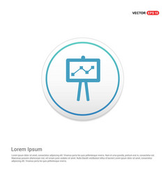 Presentation icon hexa white background icon vector
