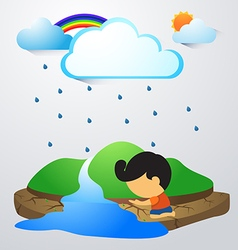 Rainland vector