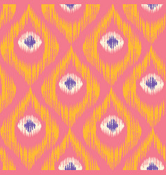 Retro ikat colorful pattern vector