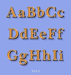 Retro Style Alphabet vector