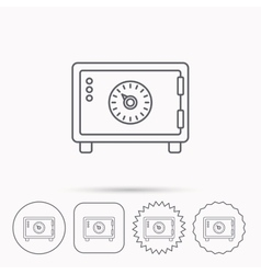 Safe icon Money deposit sign vector
