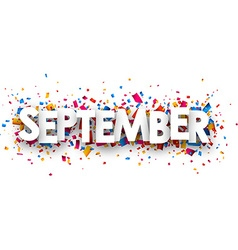 September sign vector