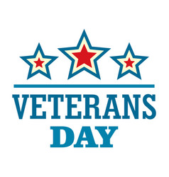 Stars veterans logo logo flat style vector