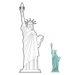 Statue of Liberty coloring book Symbol of freedom vector image vector image
