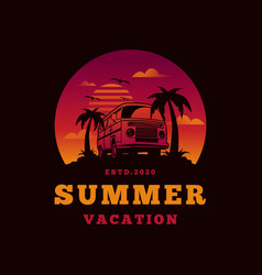 summer beach design vector image
