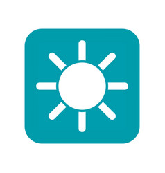 sun flat weather icon clear and sunny meteo vector image
