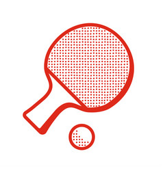 tabble tennis racket icon vector image