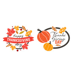 thanksgiving day holiday celebration banners vector image