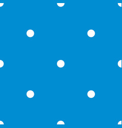 Tile pattern with white polka dots on pastel blue vector