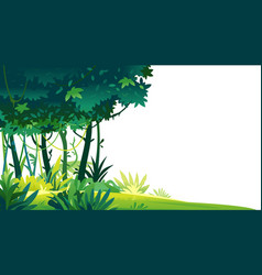 Tropical forest isolated template vector